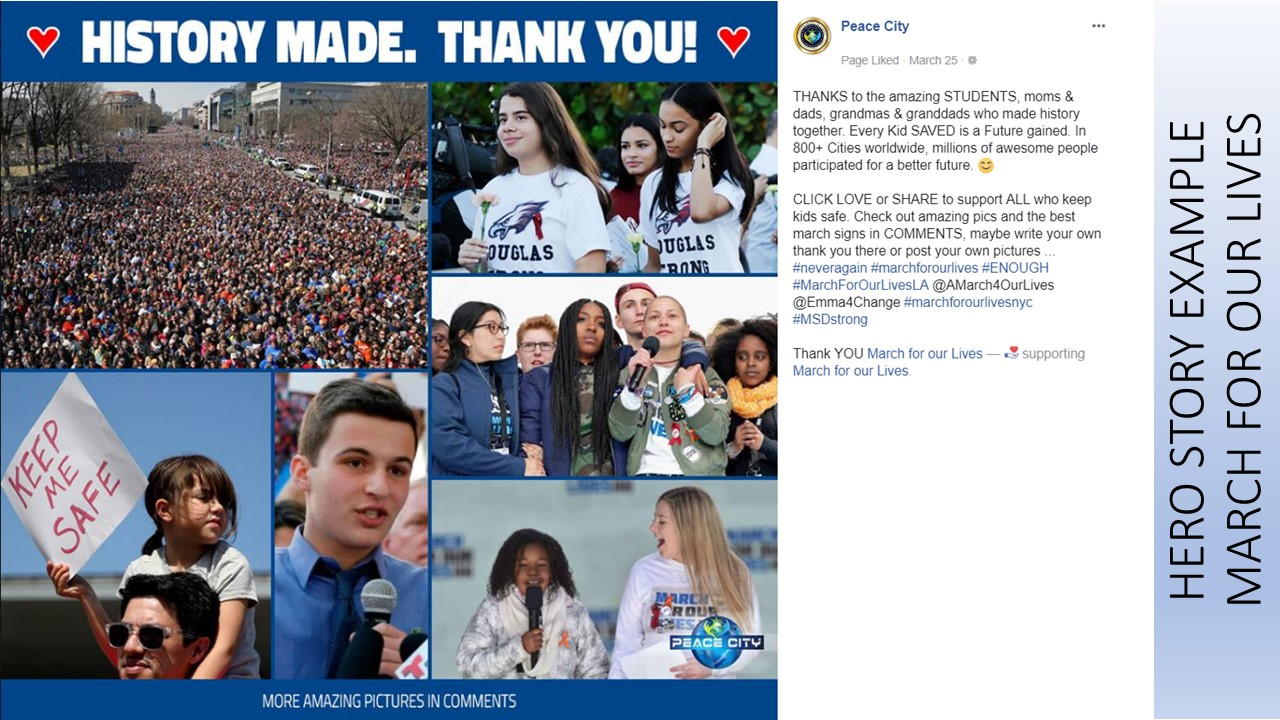 HERO STORY EXAMPLE MARCH FOR OUR LIVES