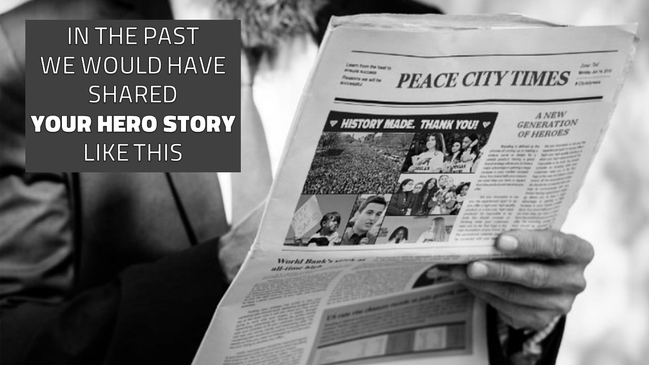 IN THE PAST YOUR HERO STORY PEACE CITY TIMES